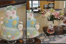 Chic Alice Baby Shower / Alice in Wonderland inspired baby shower with tea party emphasis.