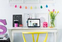 Office / Craft Space / Colorful work spaces for offices and craft rooms.