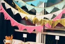 Bunting, Garland, Banners, Pennants, Whatever you want to call them / Bunting, Garland, Banners, Pennants,and pretty things strung together.