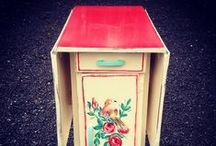 Upcycled Tables / Hand painted Tables