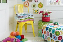 Colorful Space / Rooms and spaces full of color and whimsy.