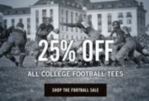 College Football Sale / We're having a sale! Get 25-35% off these vintage college football t-shirts and sweatshirts. / by Tailgate