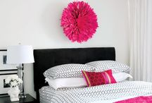 Pink | Grey | Black Bedroom Ideas / Bri's Room ideas..