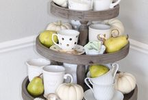 Tiered Trays / Tiered trays decorating ideas • entertaining • home decor • farmhouse style