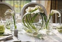 Calla lily wedding ❀✿❀ / A beautiful wedding with floral compositions made up of calla lilies