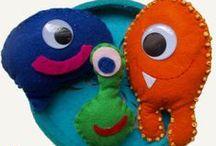 monsters toy- szörnyecskék / Handmade monsters, kids, gyerkőc, gyerek, szörnyek, szörnyecskék