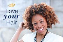 Love Your Curls / Curly girls of the world–Love your natural hair, your coils, your waves, and every beautiful curl in between. #LoveYourHair.