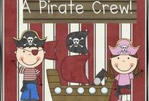 Pirate Fun for Elementary Classrooms / Kids LOVE pretending to be pirates so tap into that interest with these fun Literacy and Math Centers, and other ideas, and join in the fun!