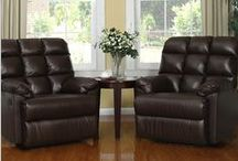 #1 Leather Recliner Chairs Set of 2 / Leather Recliner Chairs Set of 2 Large Comfort Overstuffed Wall Hugger with Biscuit Ultra Comfort Back for Living Room in Black or Brown on Sale on Amazon >> DOUBLE CLICK ON ANY IMAGE FOR DETAILS AND ORDER YOURS TODAY!!