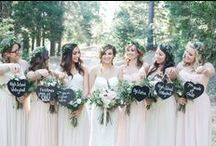 All the Pretty Ladies: Bridesmaid Pinspiration / Find inspiration for bridesmaid dresses, Maid of Honor speeches, gifts for your girls, and photo ops.