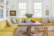 Decoración Amarillo y su familia / Decoración en color amarillo y sus derivados