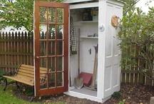stuff to do with old doors & windows / Repurpose old doors & windows