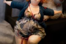 Art Dolls & homes for the little people / Art dolls images & tips on making them