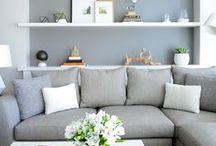 Rock Home Deco / Get creative! Cozy living rooms, kitchens, etc.