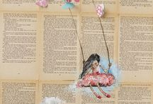 Altered Pages / Making art from books