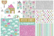 ::: Petite Street ::: / Wendy Kendall's clean, graphic approach to design mixes playful patterns and textures with strikingly modern colour palettes. 'Petite Street' shows off her naïve hand drawn style mixed with geometric patterns creating a cool, modern collection, which will appeal to both children and adults alike