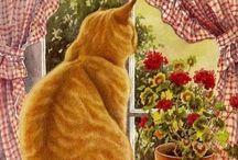Sandy B--Cat Art. 4 / More great cat art.  #4. / by Sandra Belisle