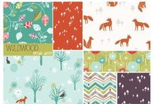 ::: Wildwood ::: / Wildwood is a beautiful woodland fabric collection By Bethan Janine for Dashwood Studio.