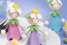 Basteln mit Kindern / Einfache Bastelideen für kleine Kinder