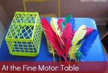 Fine Motor Skills / Activities to promote the development of fine motor skills.