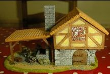 Wargame Scenery - Blacksmith Shop - Village of Urfé / Latest Project on the go: a blacksmith's shop for wargames #scenery #wargames #minatures #building #Hobbies #Craft