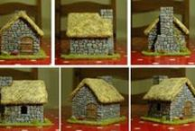 Wargame Scenery - Cottages - Village of Urfé / Got a blacksmith, a shop and a windmill, so time for cottages now...