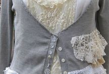 Upcycled clothing / Great ideas for up-cycling old shirts, jackets, jumpers & lace