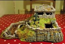 Bolt-Action / WWII style scenery / using the Hirst Arts sandbag and trenches molds