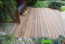 Montage einer Holzterrasse aus Cumaru Terrassenholz