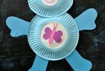 Basteln mit Kindern | Pappteller / Pinterest Board mit schönen plastischen Bastelideen für Kinder aus Papptellern