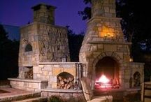 Fireplaces & Fire Pits / Custom stone fireplaces and fire pits.