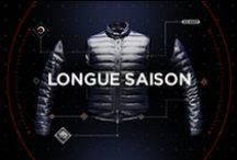 Longue Saison Project / A down jacket we can take with us everywhere all year round. It makes feel good when temperatures are not too harsh and protect us from extreme cold.