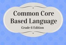 Common Core Language / Worksheets from Common Core Based Language