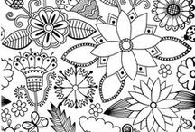 Adult coloring for young and a bit older adults... / Printbare bilder jeg liker For fargelegging