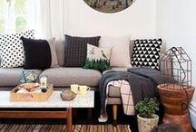 Olohuoneet ja oleskelutilat / Inspiroivia olohuoneita ja viihtyisiä oleskelutiloja sisältä ja ulkoa
