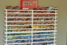 Speedy Storage & Decor / Simple and creative décor ideas and organizational solutions for a house full of little Hot Wheels racers.