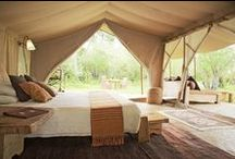 Glamping, camping inovations / Latest Innovations in Luxury Camping, Semi permanent Structures    / by Louis Demello