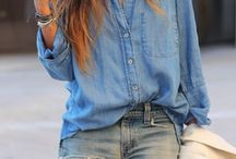 DENIM ON DENIM / jeans and blue