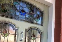 Edwardian front doors / Edwardian front doors with stained glass