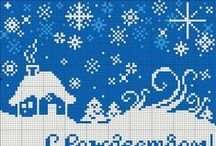 Fair Isle winter / snowflakes