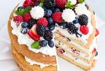 Mouth Watering Desserts, Brownies and Cakes, / Tasty cakes, brownies, cookies. All tasty puddings and dessert ideas including ice cream and sweet treats