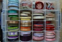Craft Storage / Ideas for storing ribbons, stickles,