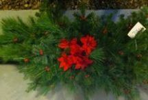 Our Handmade Holiday Decor / Our farm features handmade & decorated wreathes, garland, swags and more.