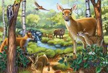 Erdei állatok / Forest animals / by Jolán Szabó