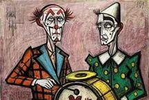 Pinturas Clown de Bernard Buffet / Pinturas de Clowns y Payasos de Bernard Buffet