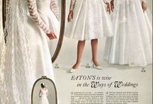 catalog / Vintage catalogue of bridal gowns, and Modern Bride pages