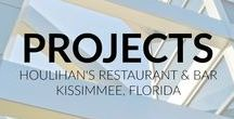Projects - Houlihan's Kissimmee, Florida / After successfully completing a Houlihan's project in Mishawaka, Indiana, Panzica was invited to travel 1,000 miles to Florida to design and build a new concept Houlihan's near Walt Disney World's main gate. Our third project for this chain. This one-of-a-kind indoor/outdoor restaurant features a bar and banquet facilities for 472 patrons. A unique feature is a hexagonal outdoor gazebo providing air conditioned comfort for 75 patrons.