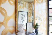 Pattern Wallcovering Trends / #interiordesign #interiordecor #wallcovering #wallpaper #patterns #textures #print #silk #walldecor #luxe #luxury