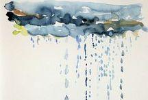 ~I Love Watercolor sky, clouds~ / Watercolor sky, watercolor clouds