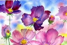 ~I Love Watercolor Flowers~ / Watercolor flowers / by Sonia Aguiar